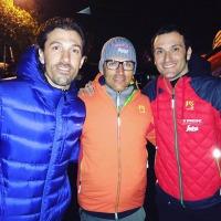 Con due colonne portanti del ciclismo moderno, Basso e Cancellara